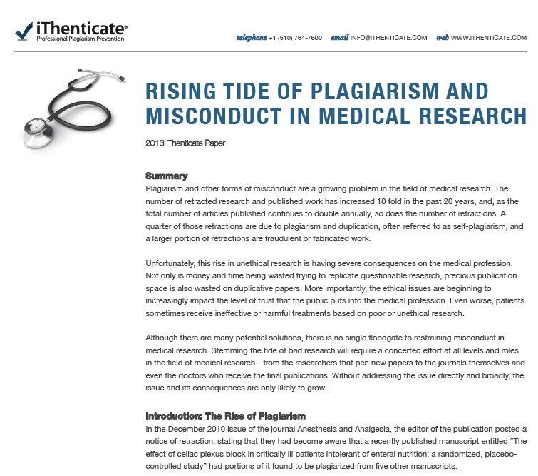 plagiarism-medical-research