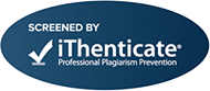 Screened by iThenticate Badge