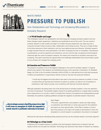 pressure to publish