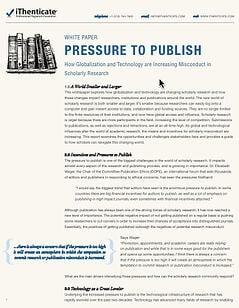 pressure to publish