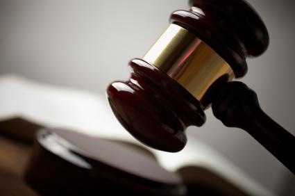 Legal plagiarism gavel