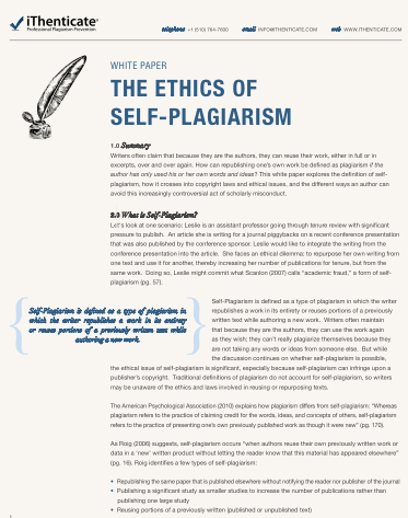 how to avoid self plagiarism