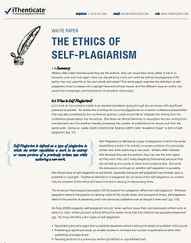 self plagiarism white paper